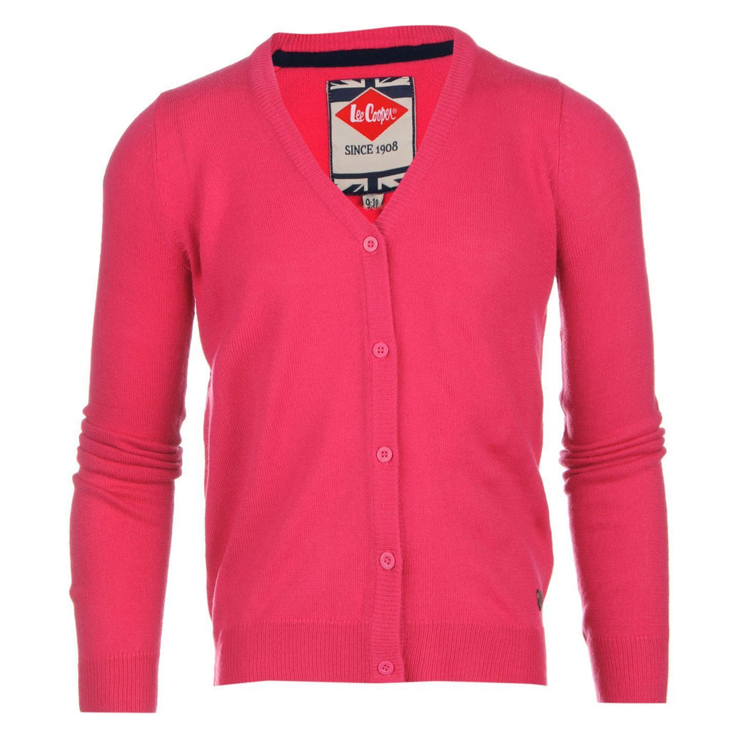 Lee cooper patch cardigan-pink