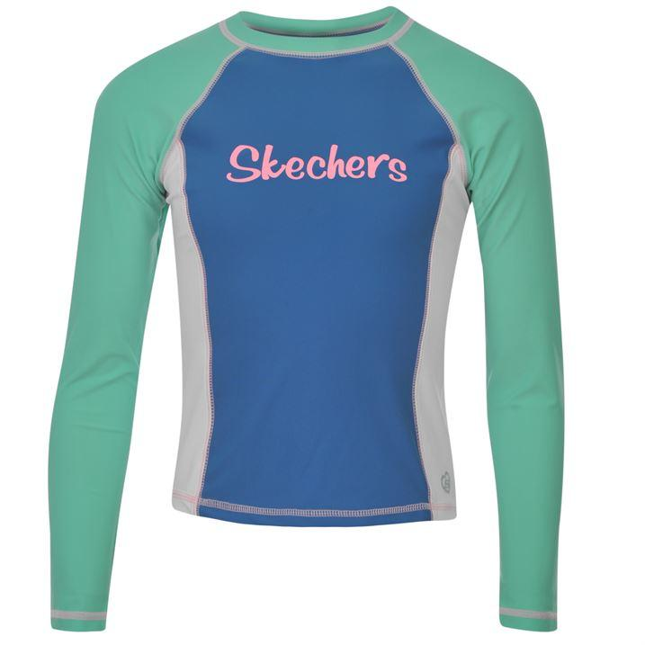 Skechers girls swimtop green/blue/white