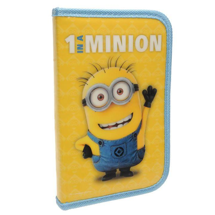 minion filled pencil case