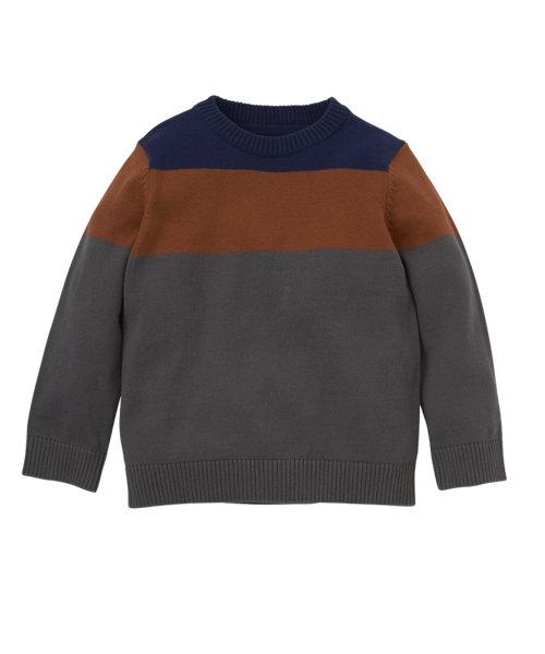 MOTHERCARE Colour Block Jumper  (Blue/Orange. and Grey)