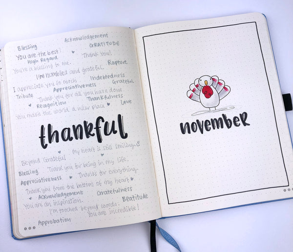 How to setup your Dingbats* Notebook for November using a Thanksgiving theme