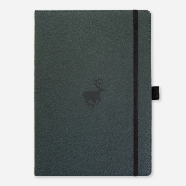 Dingbats* A4+ Wildlife Green Deer Notebook - Dingbats* Notebooks USA