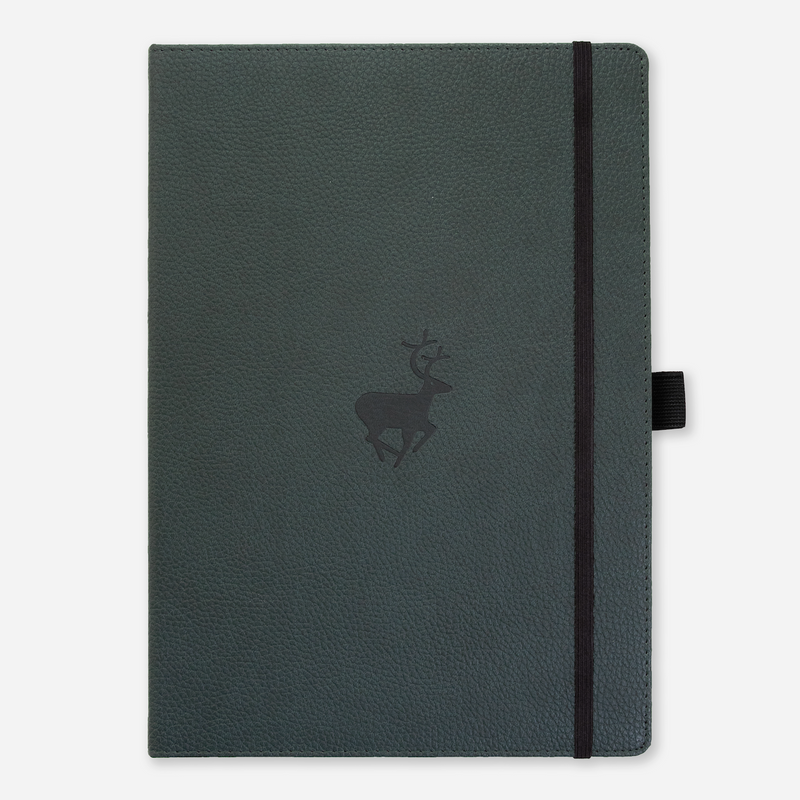 Dingbats* A4+ Wildlife Green Deer Notebook