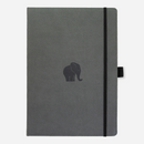 Dingbats* A4+ Wildlife Grey Elephant Notebook - Dingbats* Notebooks USA