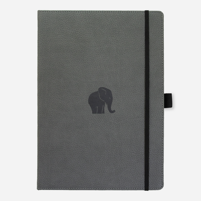 Dingbats* A4+ Wildlife Grey Elephant Notebook