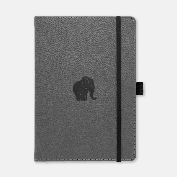 Dingbats* A5+ Wildlife Grey Elephant Notebook - Dingbats* Notebooks USA