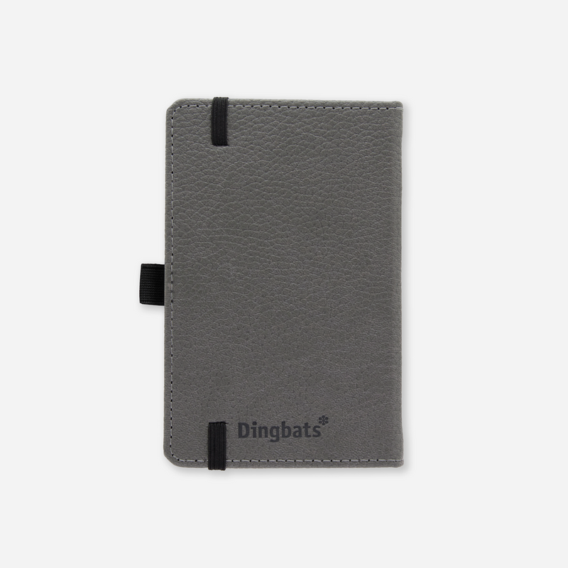 Dingbats* A6 Pocket Wildlife Grey Elephant Notebook - Dingbats* Notebooks USA