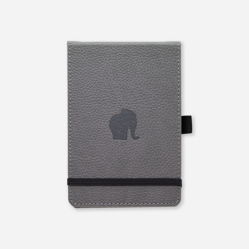 Dingbats* A6+ Wildlife Grey Elephant Reporter Notebook - Dingbats* Notebooks USA
