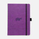 Dingbats* A5+ Wildlife Purple Hippo Notebook