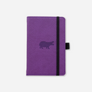 Dingbats* A6 Pocket Wildlife Purple Hippo Notebook - Dingbats* Notebooks USA