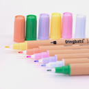 Dingbats* Ātopen 6-Pack Dual Tip Fineliner/Brush Pens - Pastel - Dingbats* Notebooks USA