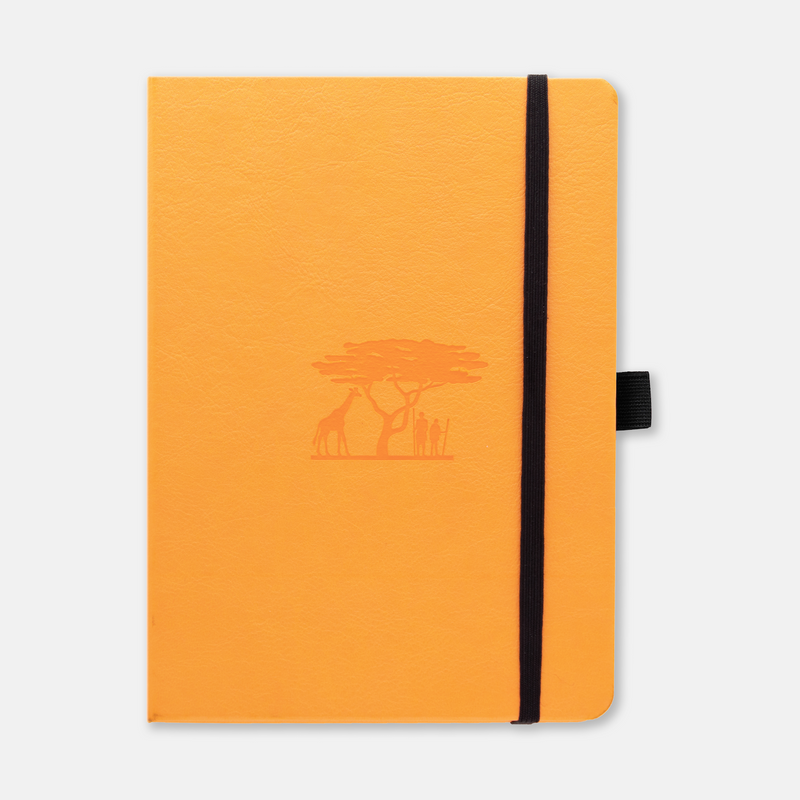 Dingbats* Earth Tangerine Serengeti Journal - Dotted (A5+ 6.3 x 8.5in)