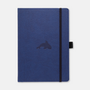 Dingbats* A5+ Wildlife Blue Whale Notebook - Dingbats* Notebooks USA