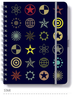 Dingbats* Wire 'O' Lined Wirebound Notebook - Star - Dingbats* Notebooks USA