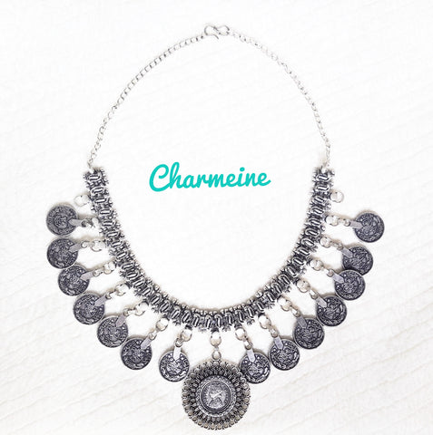 GS Vintage Coin Necklace is a beautifully designed Necklaces that would elegantly go with your winter/summer wear - Charmeine Apparel & Accessories