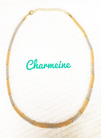 Dual tone Mesh Chain is a beautifully designed Chains that would elegantly go with your winter/summer wear - Charmeine Apparel & Accessories