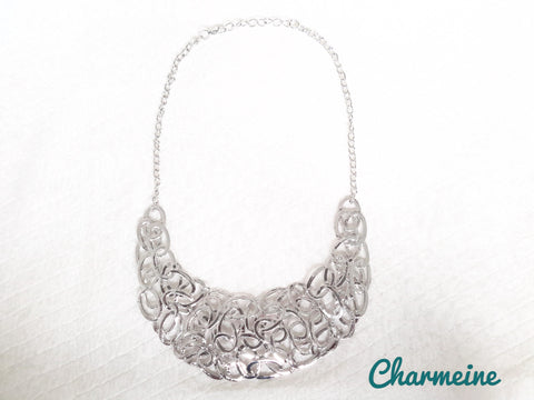 Abstract oval Neckpiece is a beautifully designed Necklaces that would elegantly go with your winter/summer wear - Charmeine Apparel & Accessories