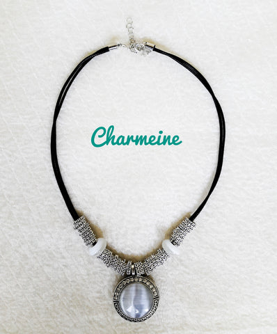 Opal Necklace is a beautifully designed Necklaces that would elegantly go with your winter/summer wear - Charmeine Apparel & Accessories