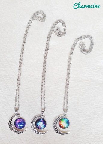 Crescent Galaxy Chains (Colors available) is a beautifully designed Chains that would elegantly go with your winter/summer wear - Charmeine Apparel & Accessories