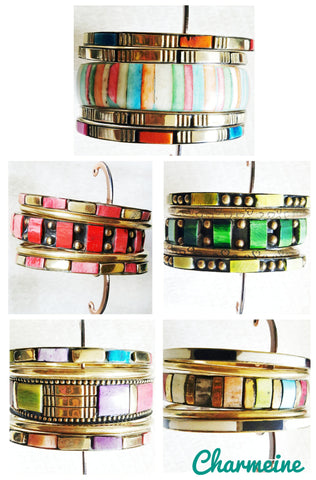 Tibetan Handmade Bangles (Available in six variants) is a beautifully designed Bangles that would elegantly go with your winter/summer wear - Charmeine Apparel & Accessories