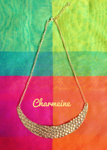 Dotted Crescent Chain is a beautifully designed Chains that would elegantly go with your winter/summer wear - Charmeine Apparel & Accessories