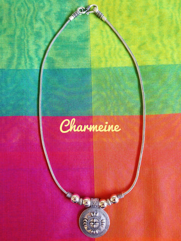GS Round Flower Chain is a beautifully designed Chains that would elegantly go with your winter/summer wear - Charmeine Apparel & Accessories