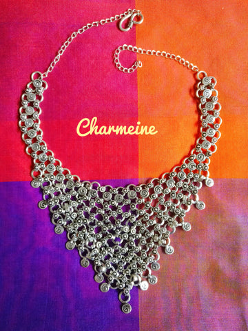 Short crisscross necklace is a beautifully designed Necklaces that would elegantly go with your winter/summer wear - Charmeine Apparel & Accessories