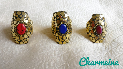 Tibetan Heart Finger Rings (Colors available) is a beautifully designed Finger Rings that would elegantly go with your winter/summer wear - Charmeine Apparel & Accessories