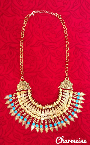 Boho Vintage Necklace (Available in two variants) is a beautifully designed Necklaces that would elegantly go with your winter/summer wear - Charmeine Apparel & Accessories