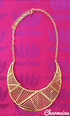Zig Zag Choker is a beautifully designed Choker that would elegantly go with your winter/summer wear - Charmeine Apparel & Accessories