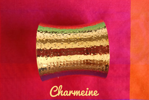 Beaten Gold Handcuff is a beautifully designed Bangles that would elegantly go with your winter/summer wear - Charmeine Apparel & Accessories