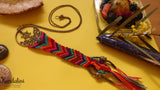 Handwoven Dream Catcher Necklace with wheel pendant