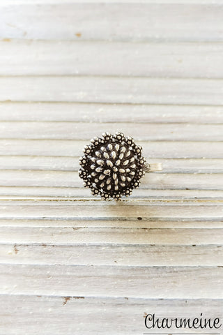 Silver Seed Studded Nose Pin