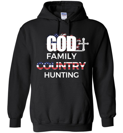 God - Family - Country - Hunting Hoodie