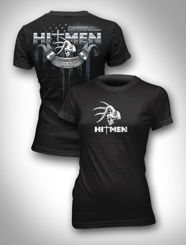 Ladies Hitmen Tee 2nd Amendment Tee