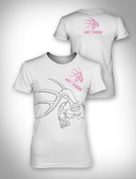 Ladies White Boyfriend Tee