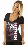Ladies Hitmen V Neck Tee
