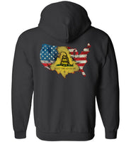 LiL Red Danger Dont Tread on Me Zip Up Hoodie