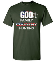 God - Family - Country - Hunting T-Shirt