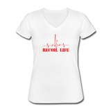 Recoil Life Women's V-Neck T-Shirt - white