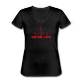Recoil Life Women's V-Neck T-Shirt - black