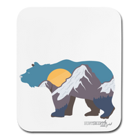 Bear Mouse pad - white