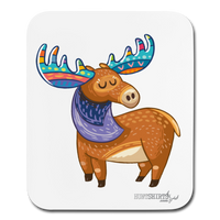 Moose 2 Mouse pad Vertical - white