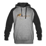 Bone Wild TV Colorblock Hoodie - heather gray/black