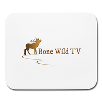 Bone Wild TV Mouse Pad - white