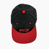 TWO TONE BLACK & RED EMBLEM SNAPBACK CAP