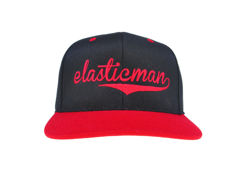 FLEXFIT 2 TONE BLACK WITH RED VISOR SNAPBACK CAP
