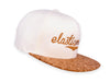 NATURAL WHITE WITH CORK VISOR SNAPBACK CAP