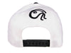 FLEXFIT 2 TONE WHITE AND BLACK VISOR SNAPBACK CAP