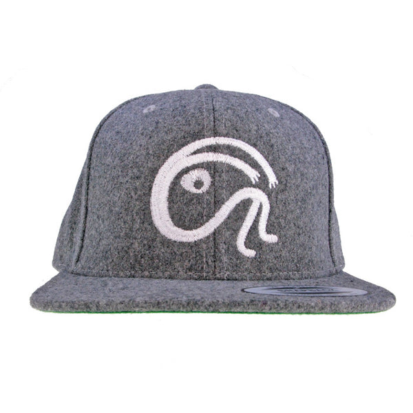 """ITS A WOOL THING"" LIGHT GREY WOOL EMBLEM SNAPBACK CAP"